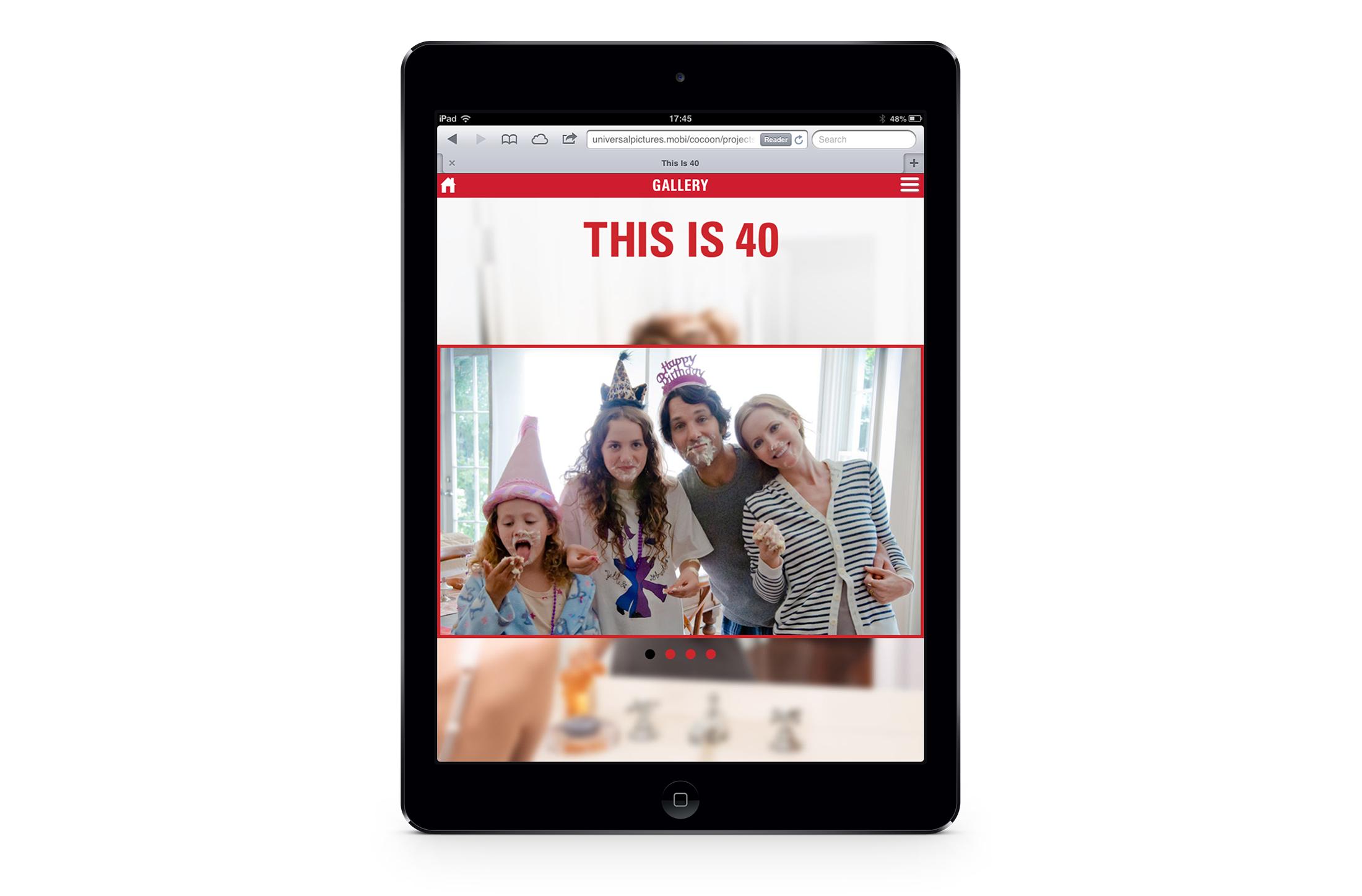 iPad: gallery screen.