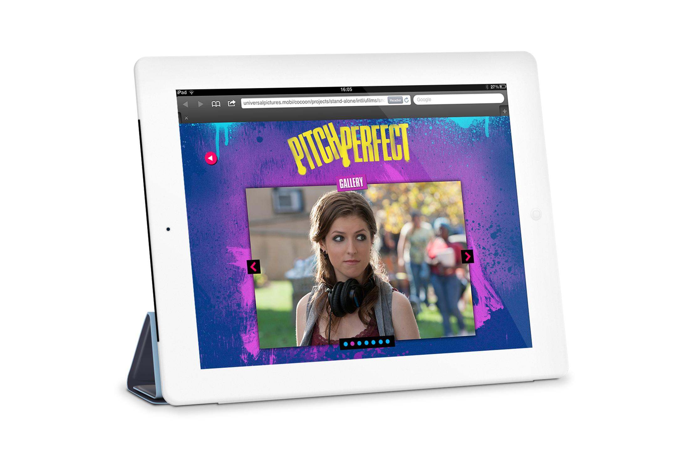 iPad: Photo gallery screen.