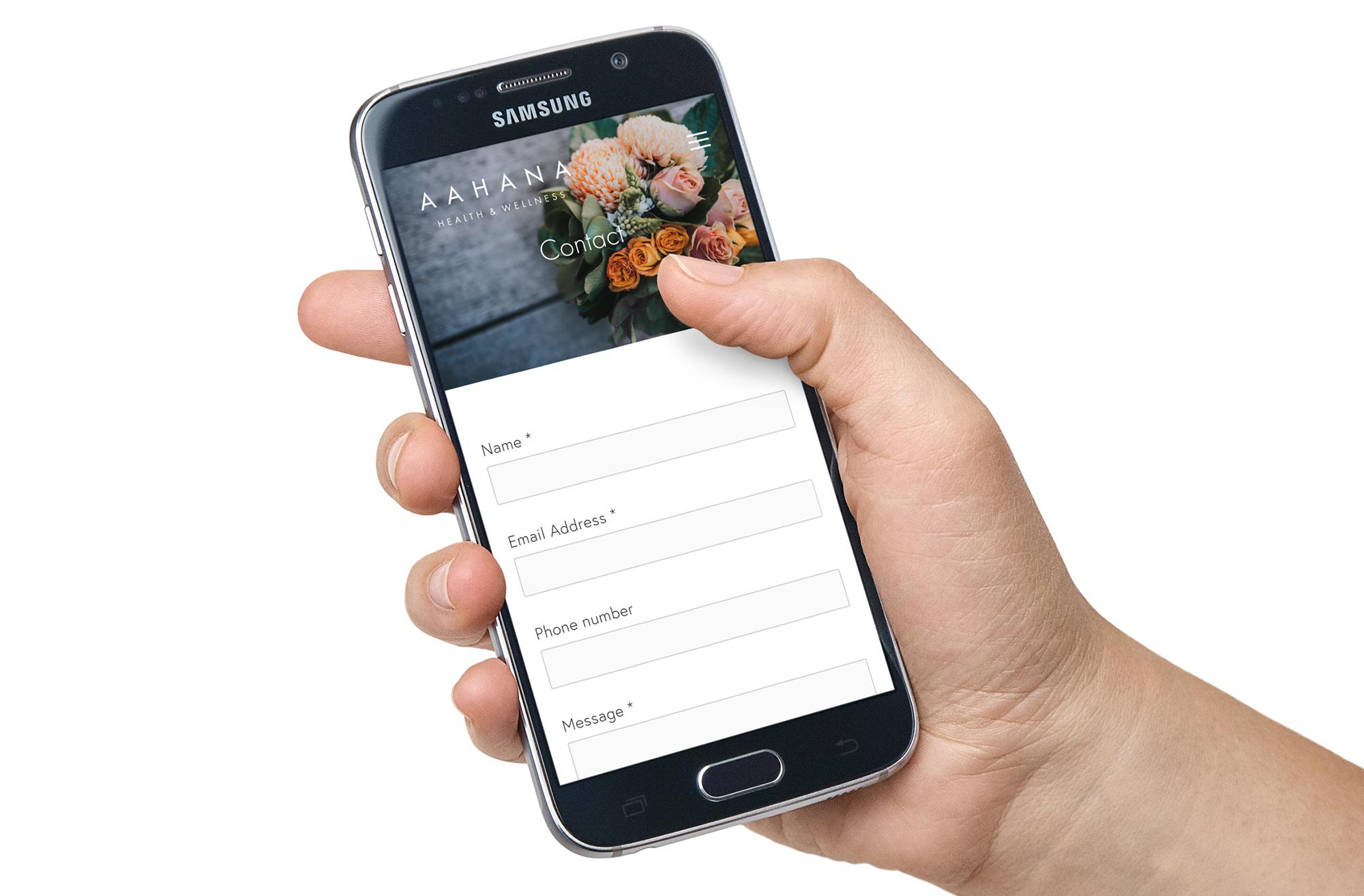 Smartphone Contact screen.