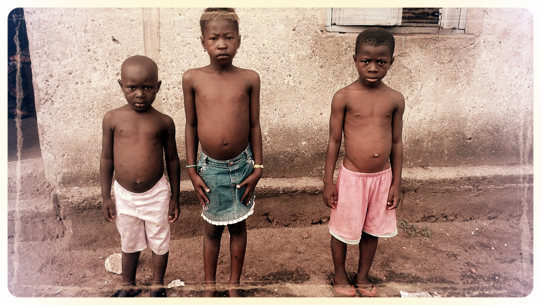 Children from Masuba, Makeni recently orphaned from Ebola.