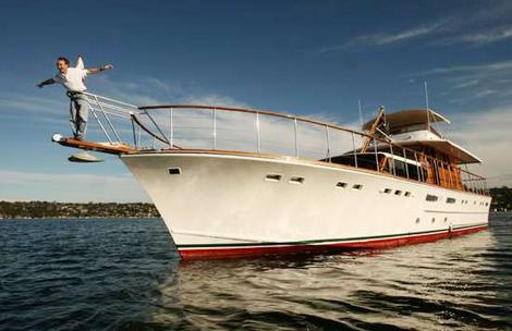 Silver Cloud II 65' V hull Motor Yacht originally named Kanahoee and built for L.J O'Neill. Designed by Harvey Halvorsen. Launched in September 1967.   Job number 1251