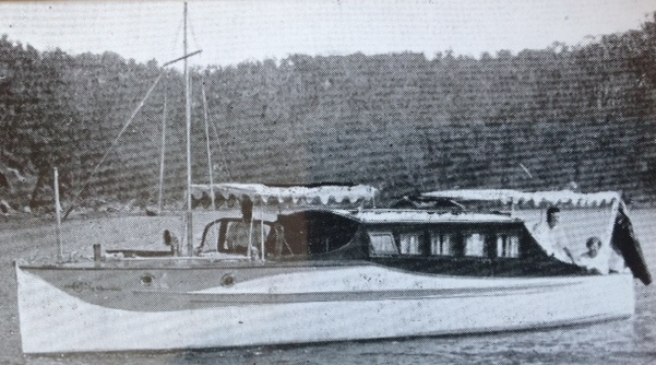 """""""White Heather"""" Designed and built by Lars Halvorsen for F.S Walton of Rose Bay and completed in December 1926. Original build price was 1,400 Pounds. 4 years later it was purchased by J.T Lang the then Premier of N.S.W.  Job number 19."""