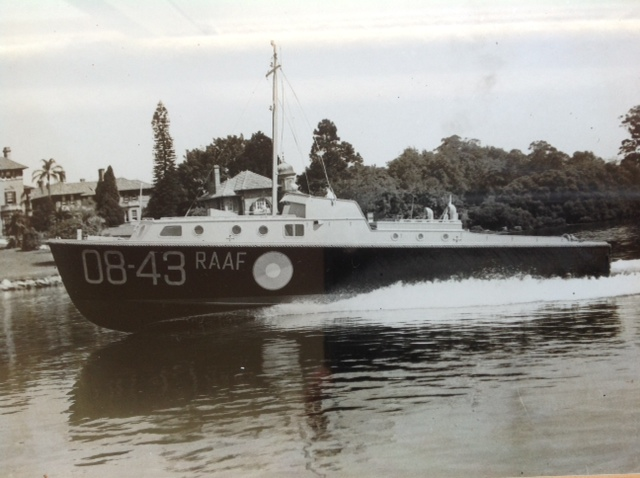 Halvorsen 38' built for the RAAF. 1945. Powered by twin Chrysler Royals.