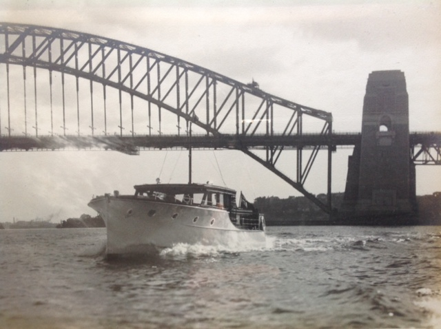 Pollyanna II 42' Bridge Deck Cruiser built for Mr. R. Strelitz and completed in April 1934.  Job number 114.