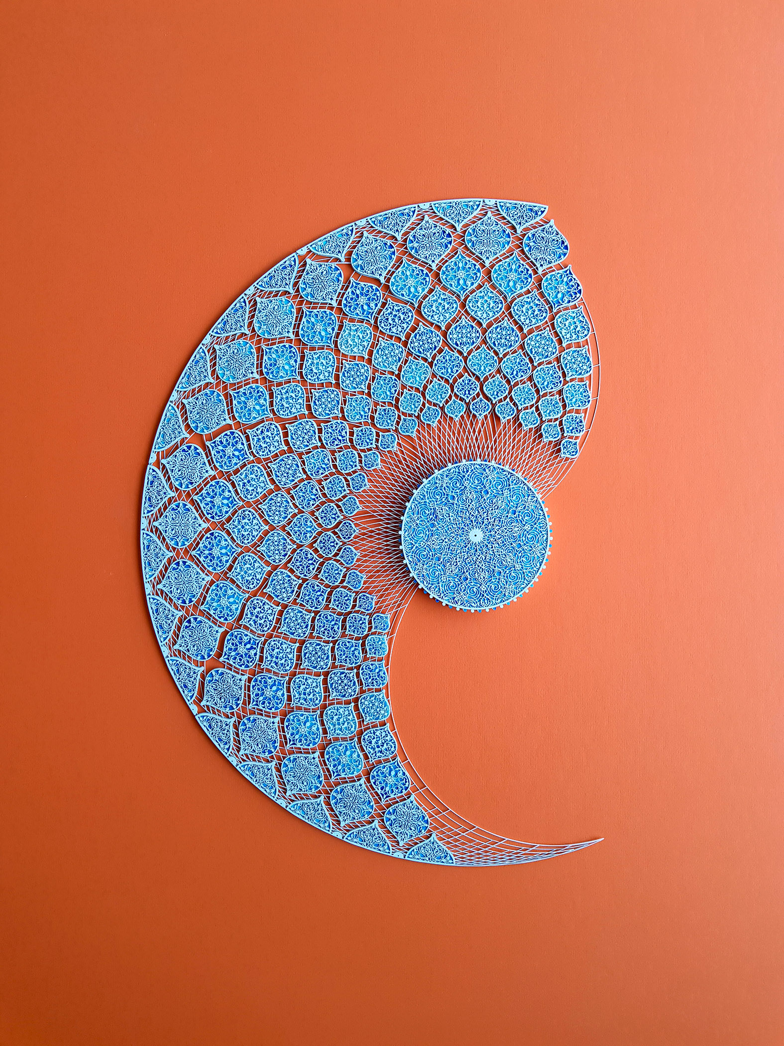 Julia Ibbini - Study No.1 for the Sublime Line - 85x100cm- Lasercut papers over Acrylic on Mylar - AED14,000.jpg