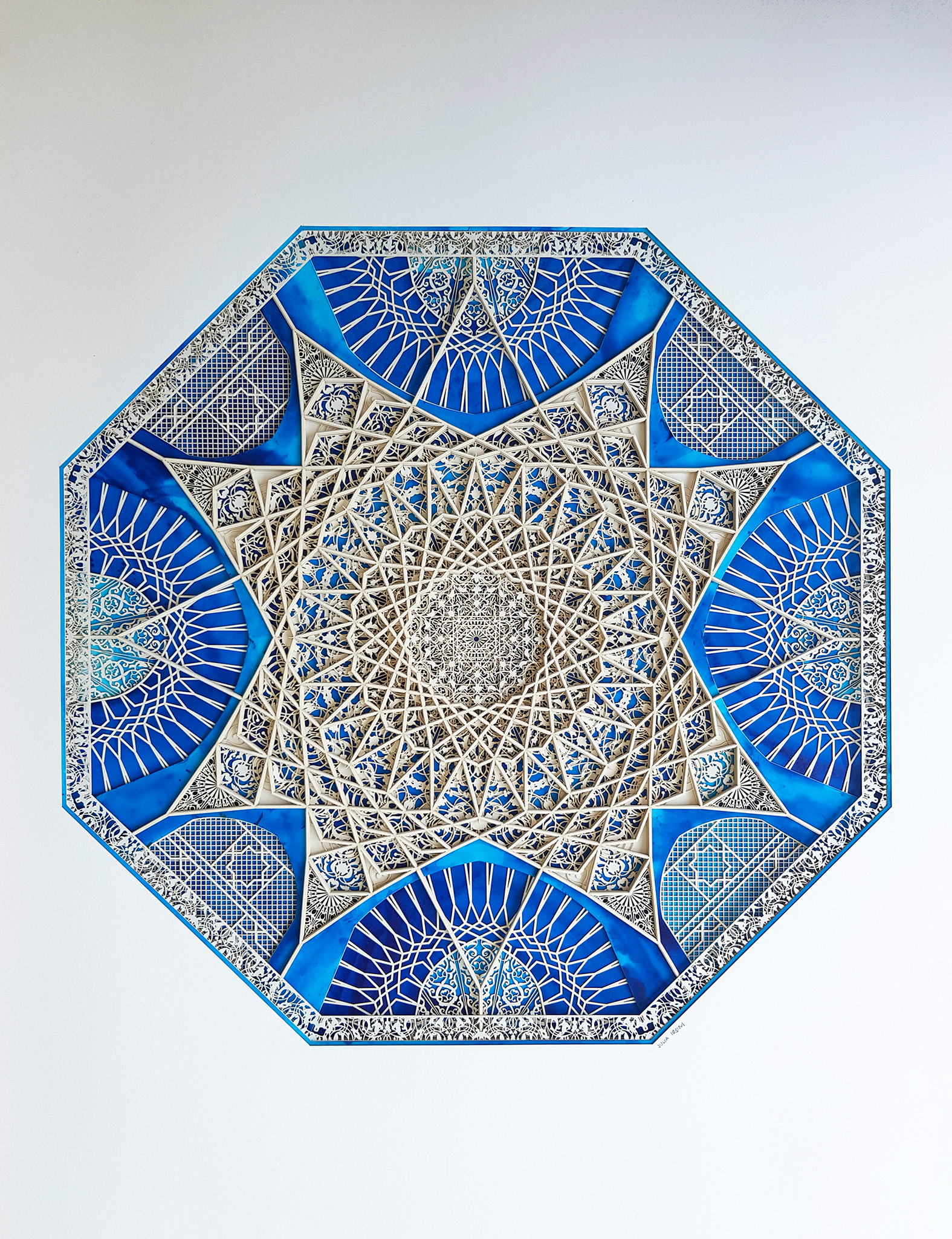 Julia Ibbini - The Sultan - 78cm x 90cm - Lasercut Papers over Ink on Mylar - AED 11,000.jpg