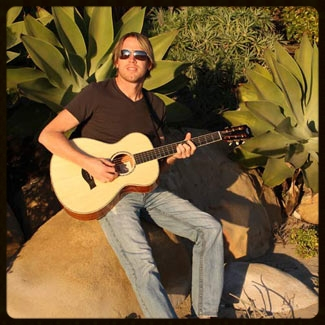Enjoying Santa Barbara with my Taylor 12th fret!