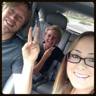 Car 'Selfie' with my daughter and my son. Haha!