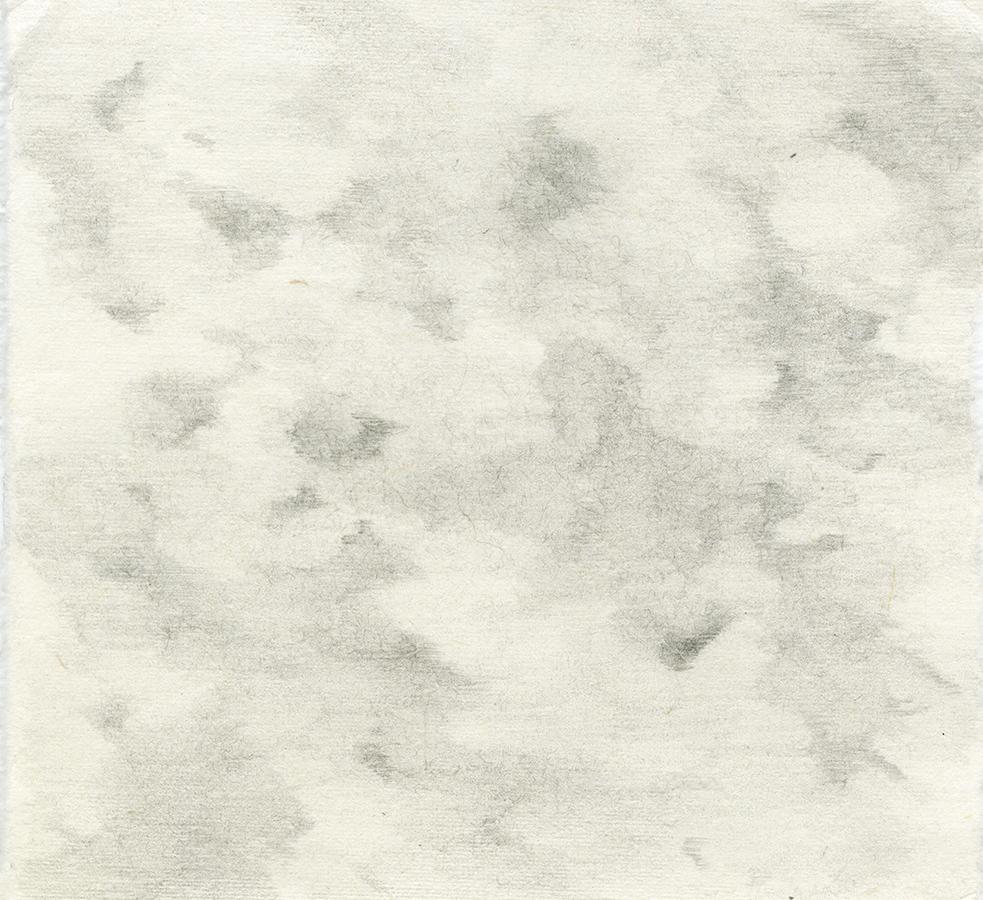 Clouds Pencil on Handmade Paper 6.5x6.jpg