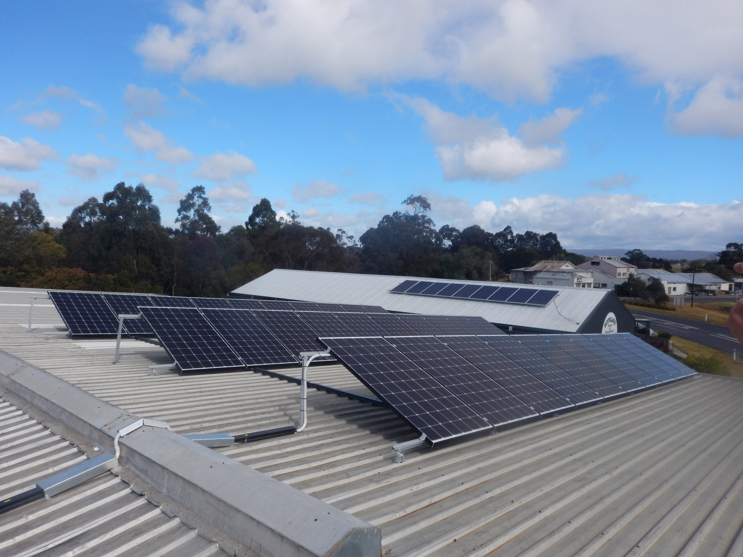 thomson valley service centre solar power installation heyfield