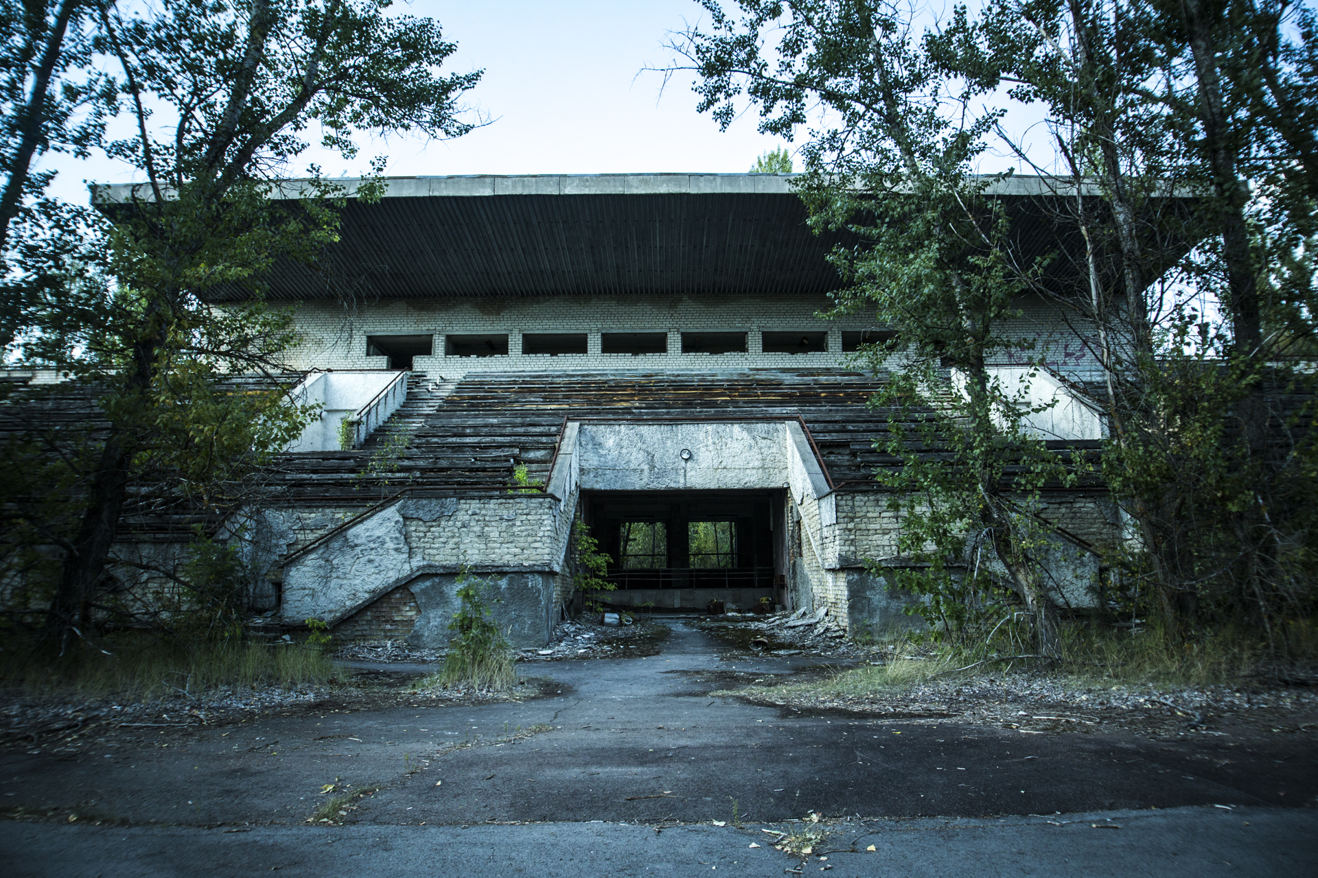 The stadium in Pripyat was one of several attractions that never reached completion before disaster struck.