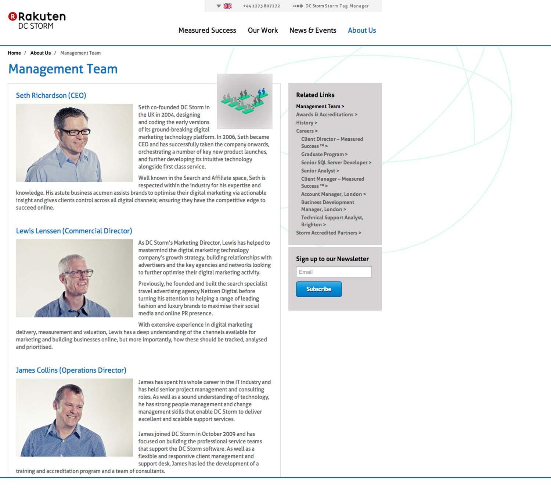 Digital Company Management Team Portraits