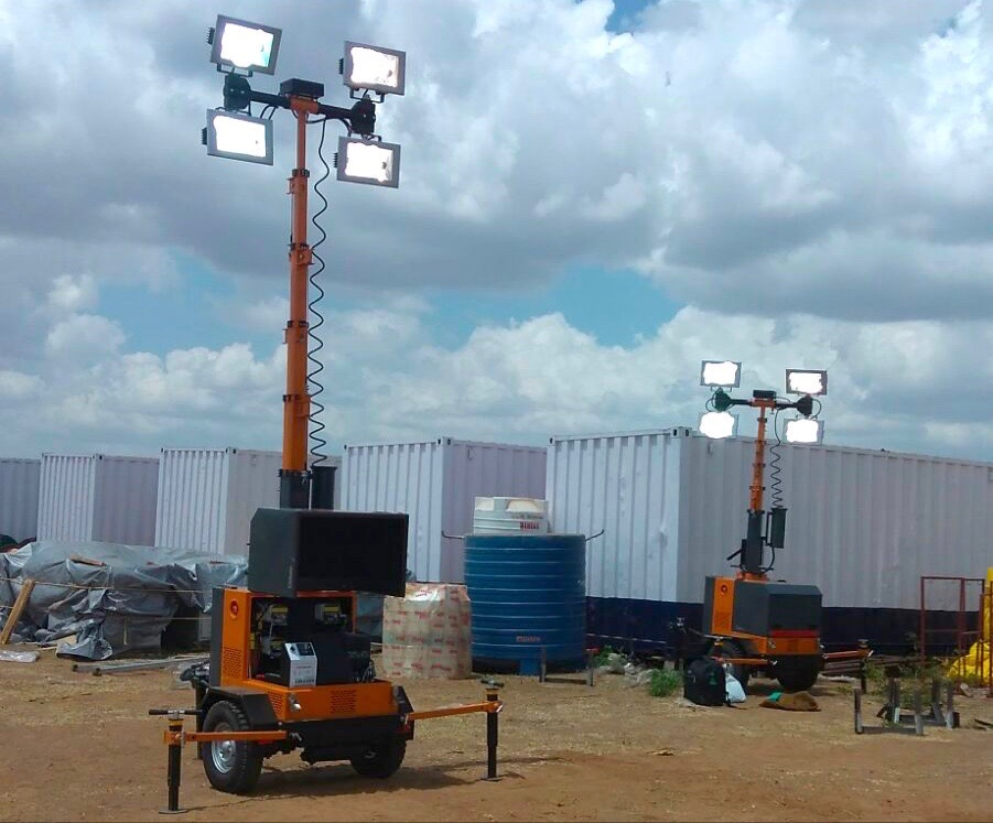 Qube and qubepower portable lighting tower
