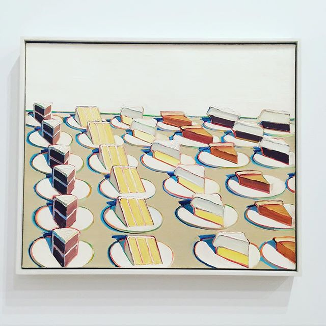 favorite piece at #thewhitney - pie counter, wayne thiebaud, 1963