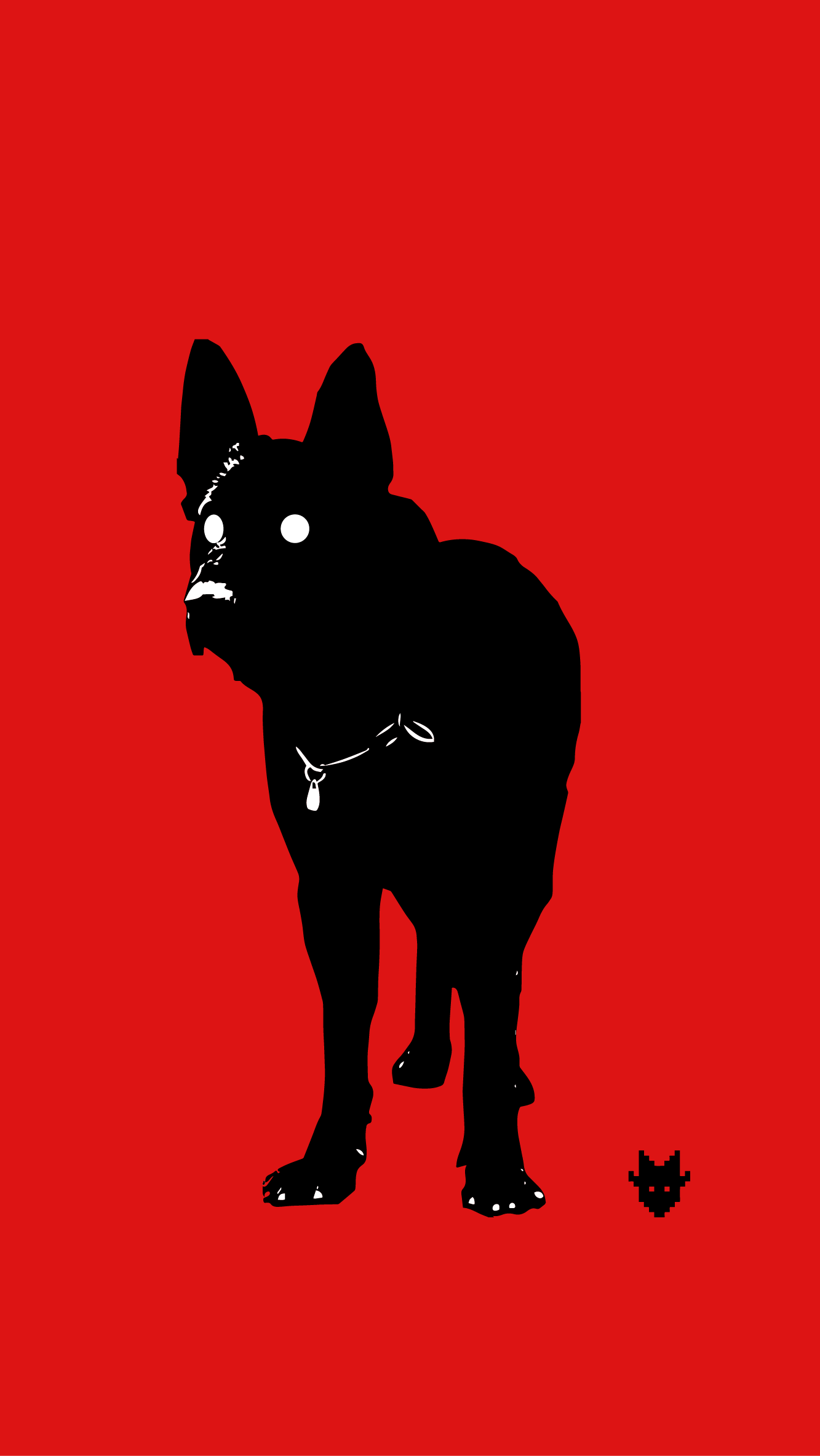 """Black Dog"" background for iPhone 5 -   Download"