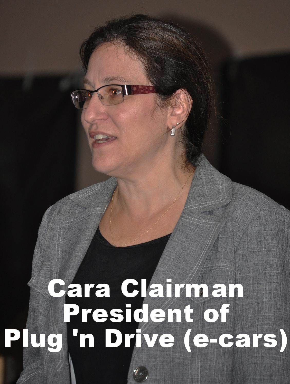 Cara Clairman President of Plug 'n Drive (e-cars).JPG