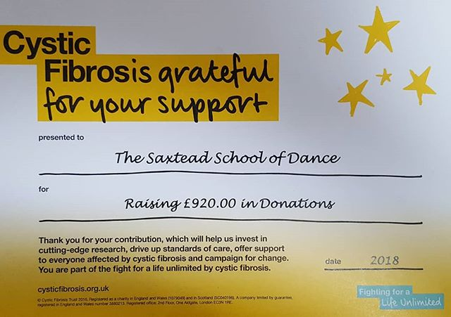 What a FANTASTIC lot of pupils and parents I have at Saxtead School of Dance! We raised £920.00 for Cystic Fibrosis. What an achievement! Thanks again and Happy Christmas to you all. #cysticfibrosistrust #dressingupforcharity #ballet # saxteadschoolofdance