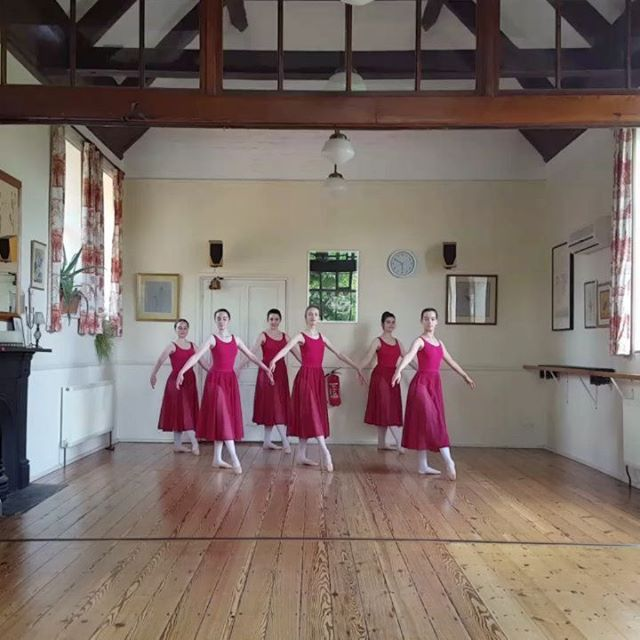 Beautiful Grade 6 girls preparing for their exam. #saxteadschoolofdance  #RAD #balletexams