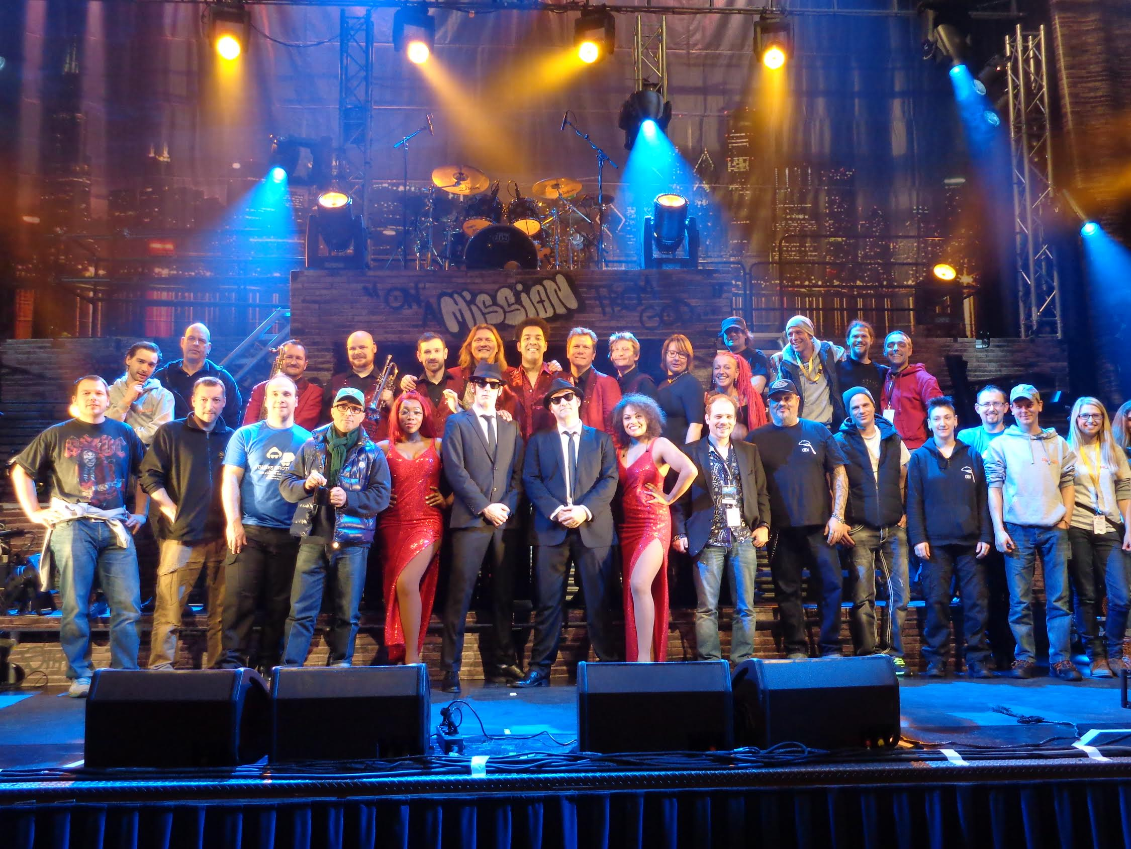 Blues Brothers Approved Tour 2015 Cast and Crew pictured in Zurich