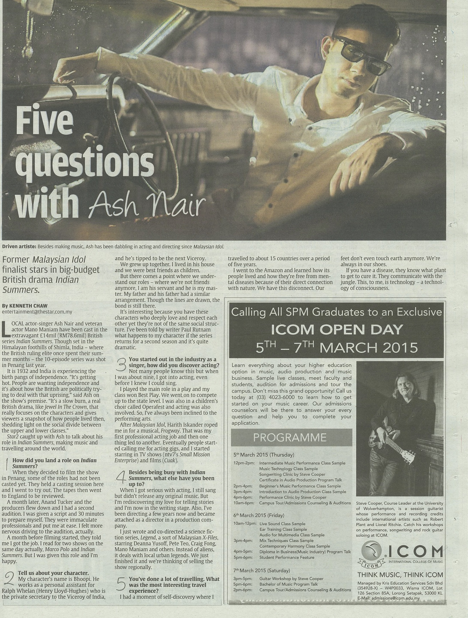 Ad Featured in Malaysian Press