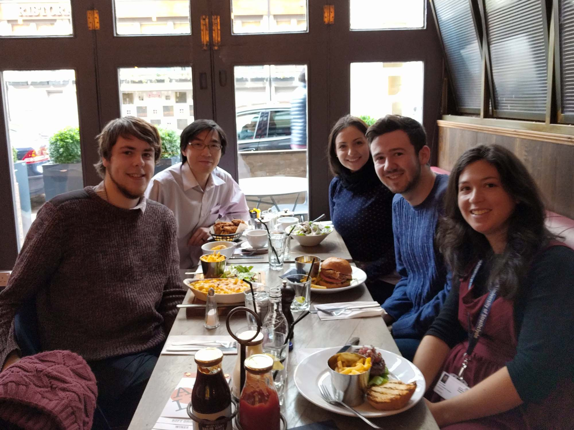 Group lunch, nov 2016