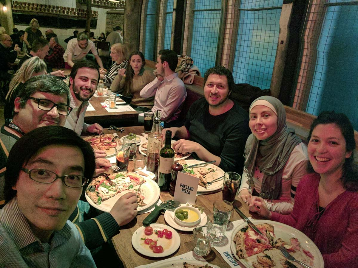 Group Dinner, May 2017