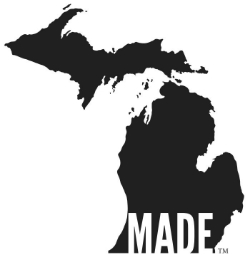 """Michigan-Made"" logo is a trade mark of Backwoods Mustard Company. Please contact us if you'd like to utilize this logo."
