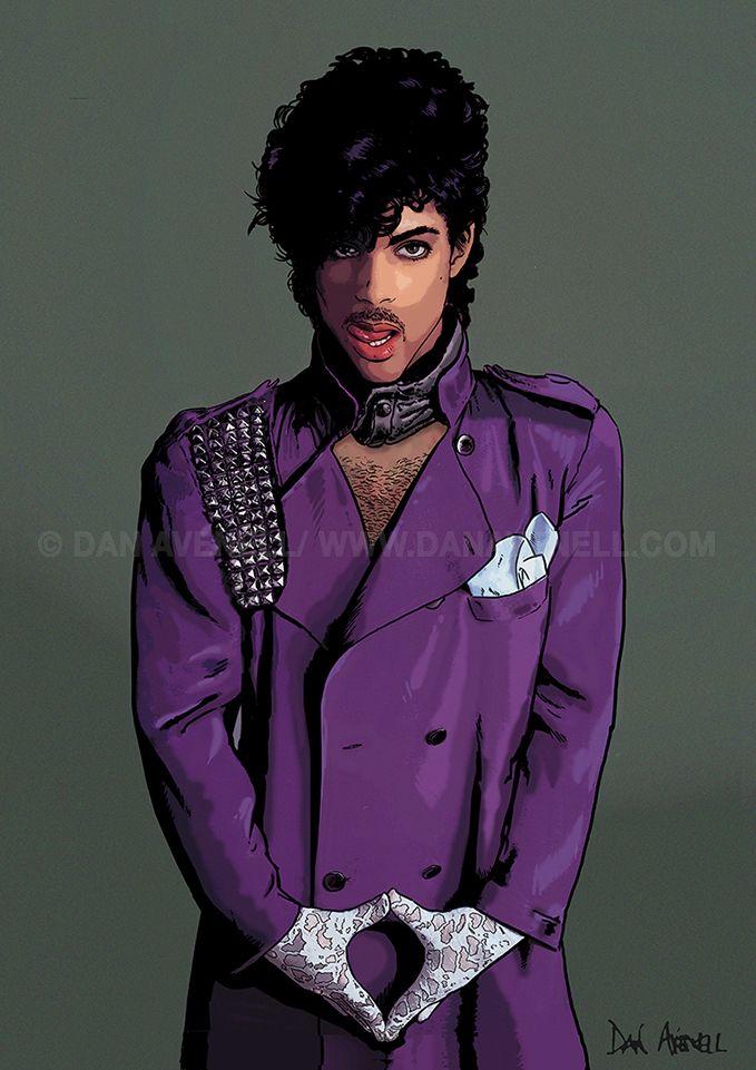 Prince by Dan Avenell. Click to enlarge,