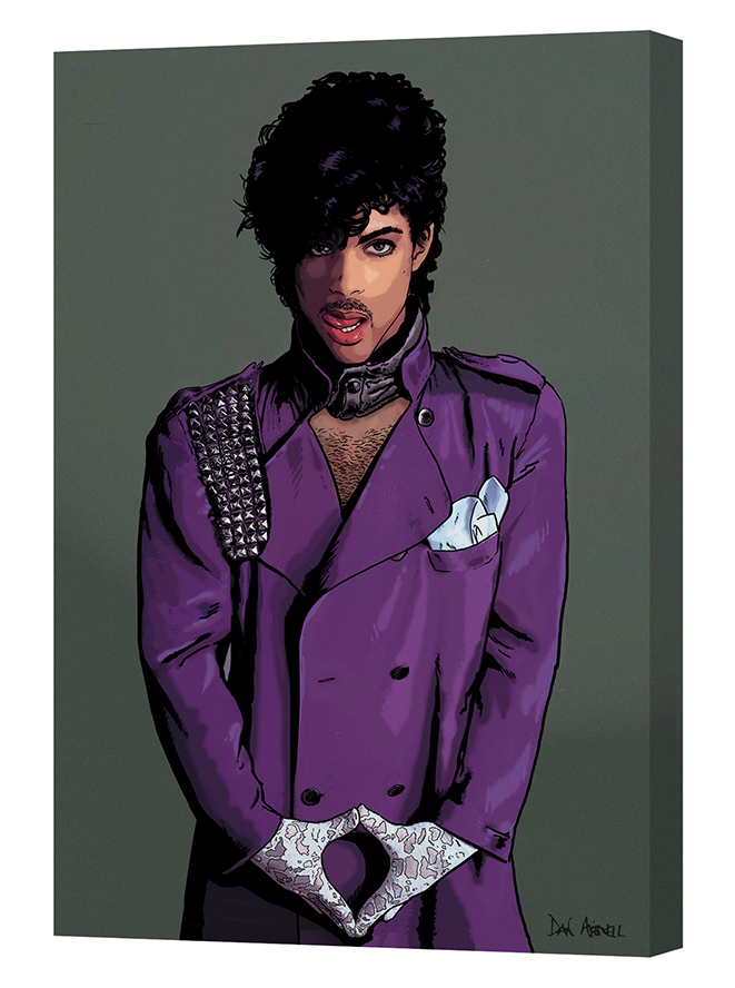 Prince Mounted Canvas Wrap - the art extends around the edges of the canvas