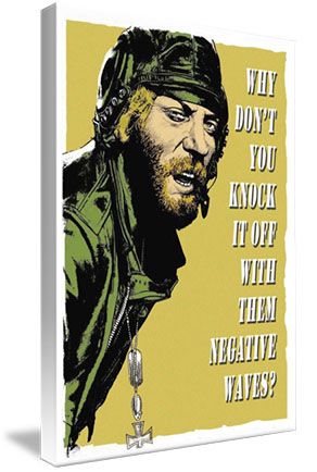 Kelly's Heroes - Oddball Says Mounted Canvas Wrap - the white border extends around the edges of the canvas