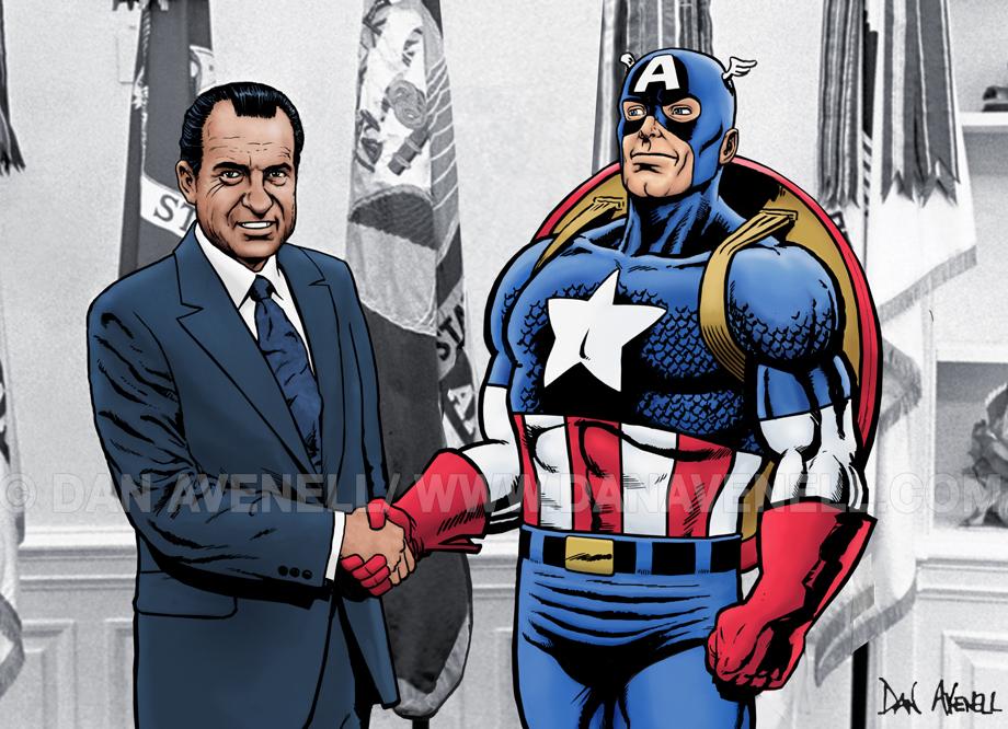 Captain America Meets Nixon