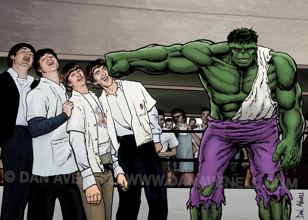 It's A Knockout - Hulk Smash Beatles by Dan Avenell