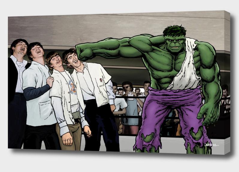 It's A Knockout - Hulk Smash Beatles Mounted Canvas