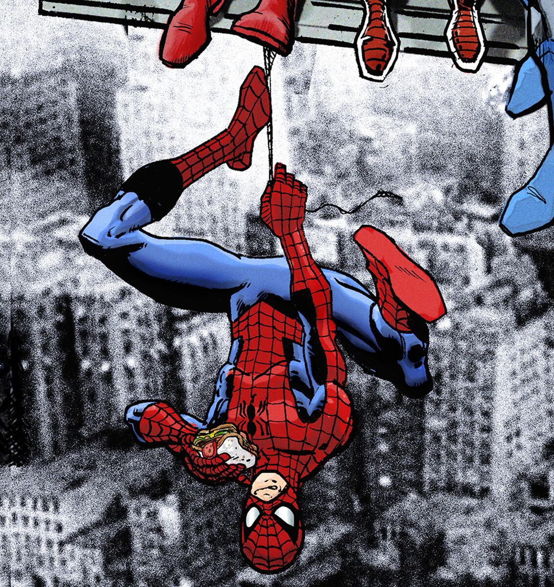 BOvv Dan+Avenell+Marvel+DC+Lunch+Atop+A+Skyscraperw+Captain+America,+Iron+Man,+Batman,+Wolverine,+Deadpool,+Hulk,+Flash,+Spider-Man+and+Superman.jpg
