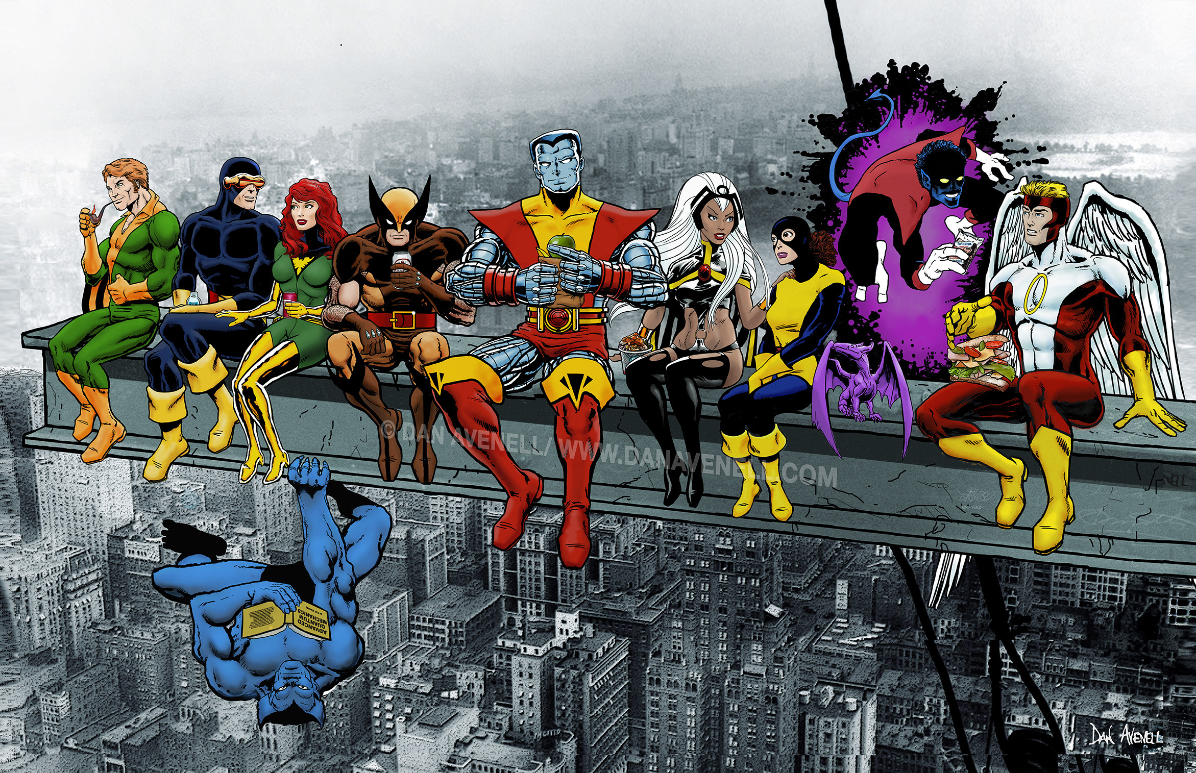 X-Men Superheroes Lunch Atop A Skyscraper Art Print