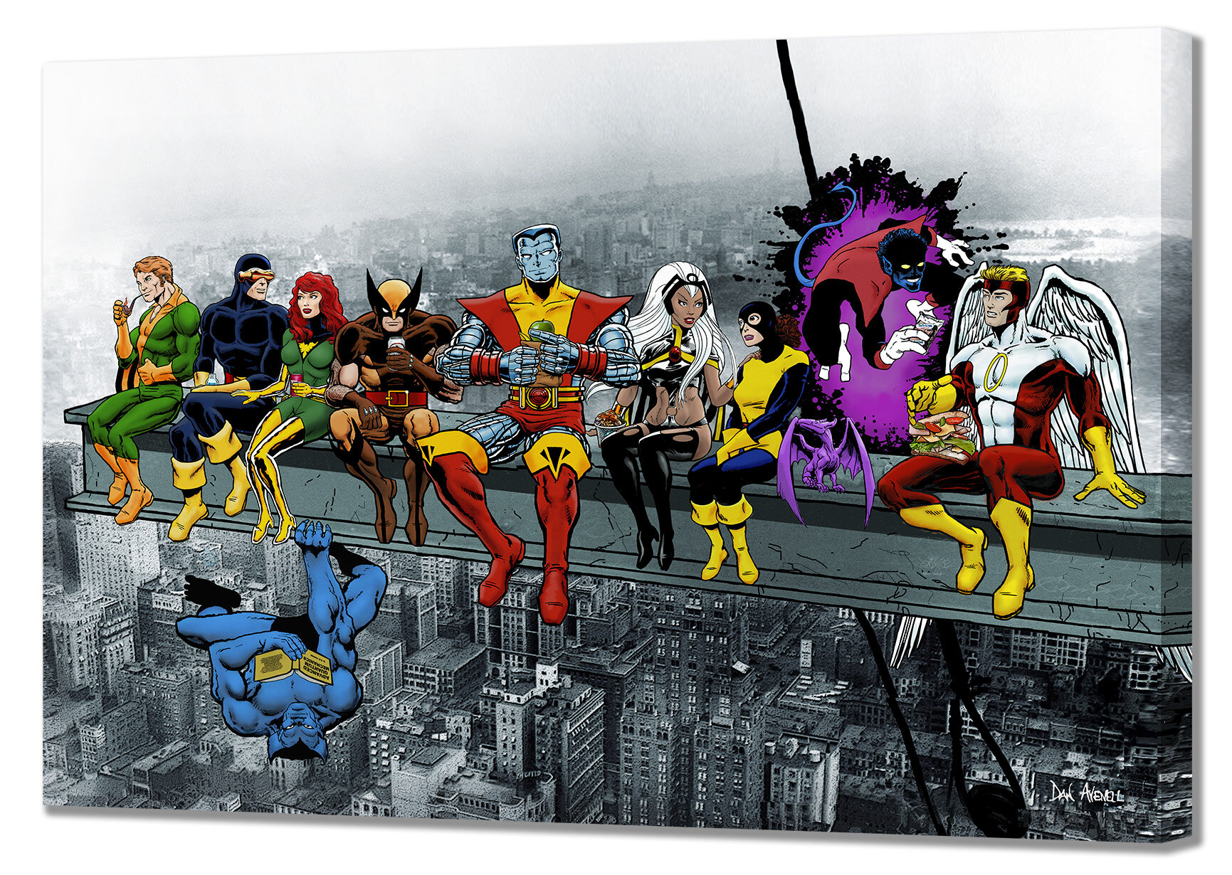 X-Men Lunch Atop A Skyscraper Mounted Canvas Wall Art