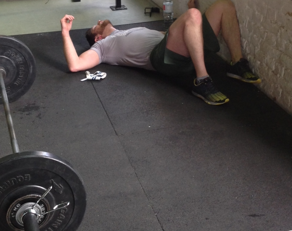 Luke's last experience with thrusters in an Open WOD ended like this...