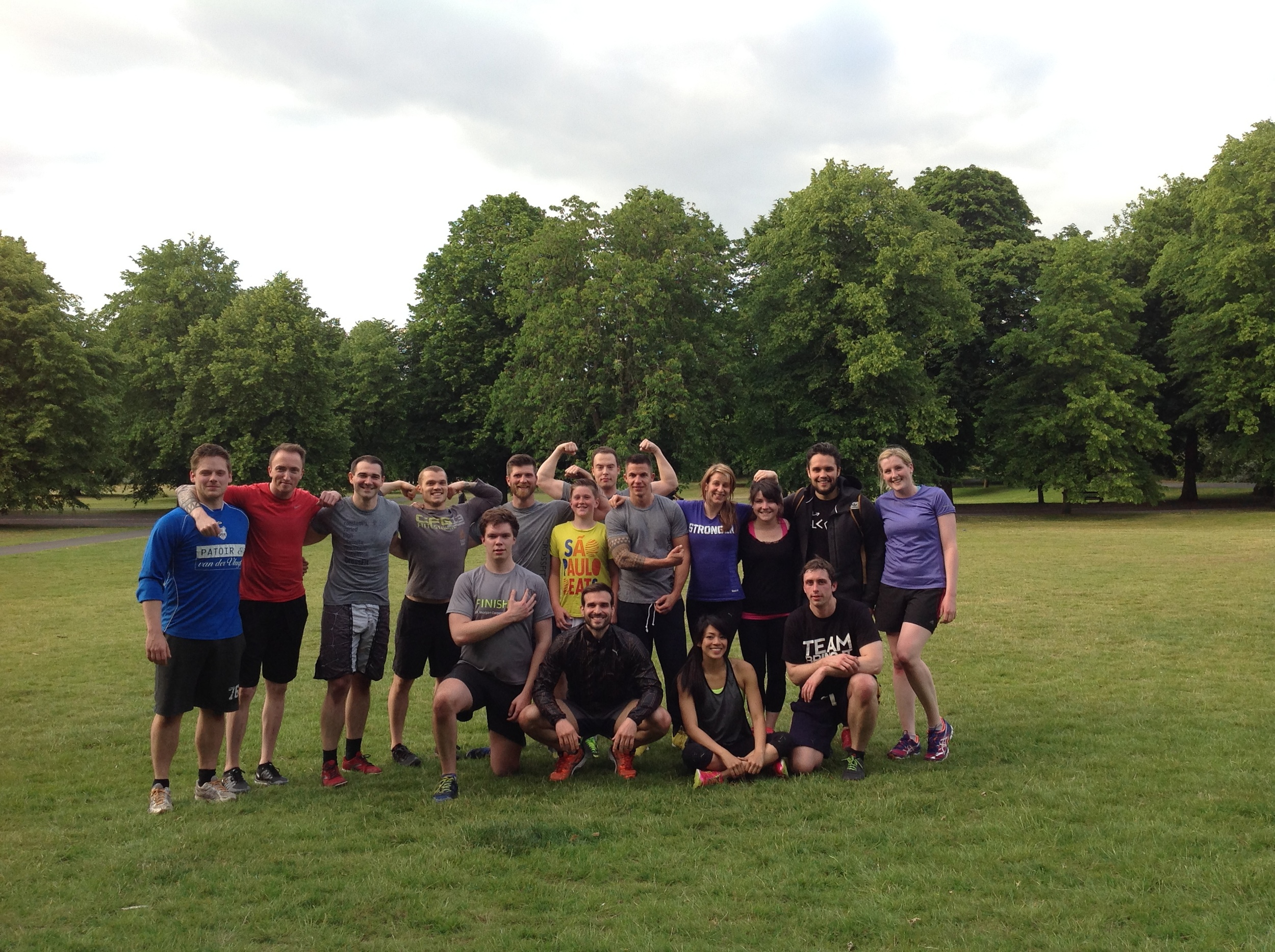 The crew after our first park WOD
