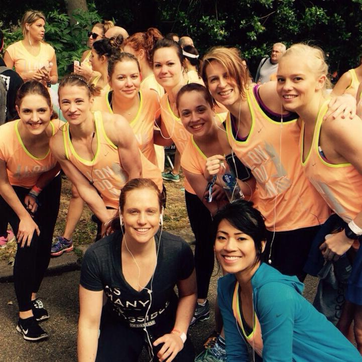 The ladies of CF1864 getting ready to smash the Nike Women's 10k