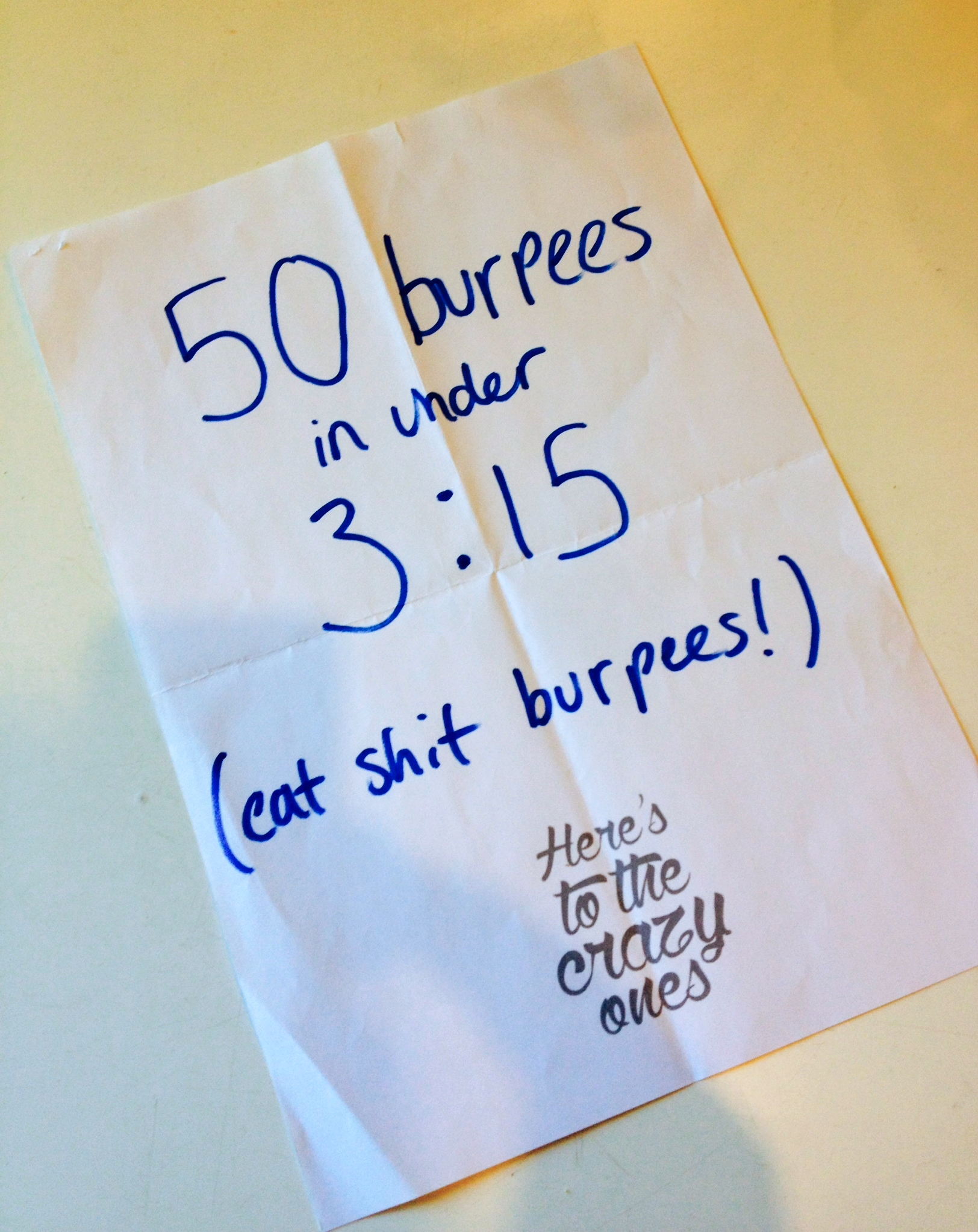 Gareth's 1 Year Goal.... Bring on the Burpees!