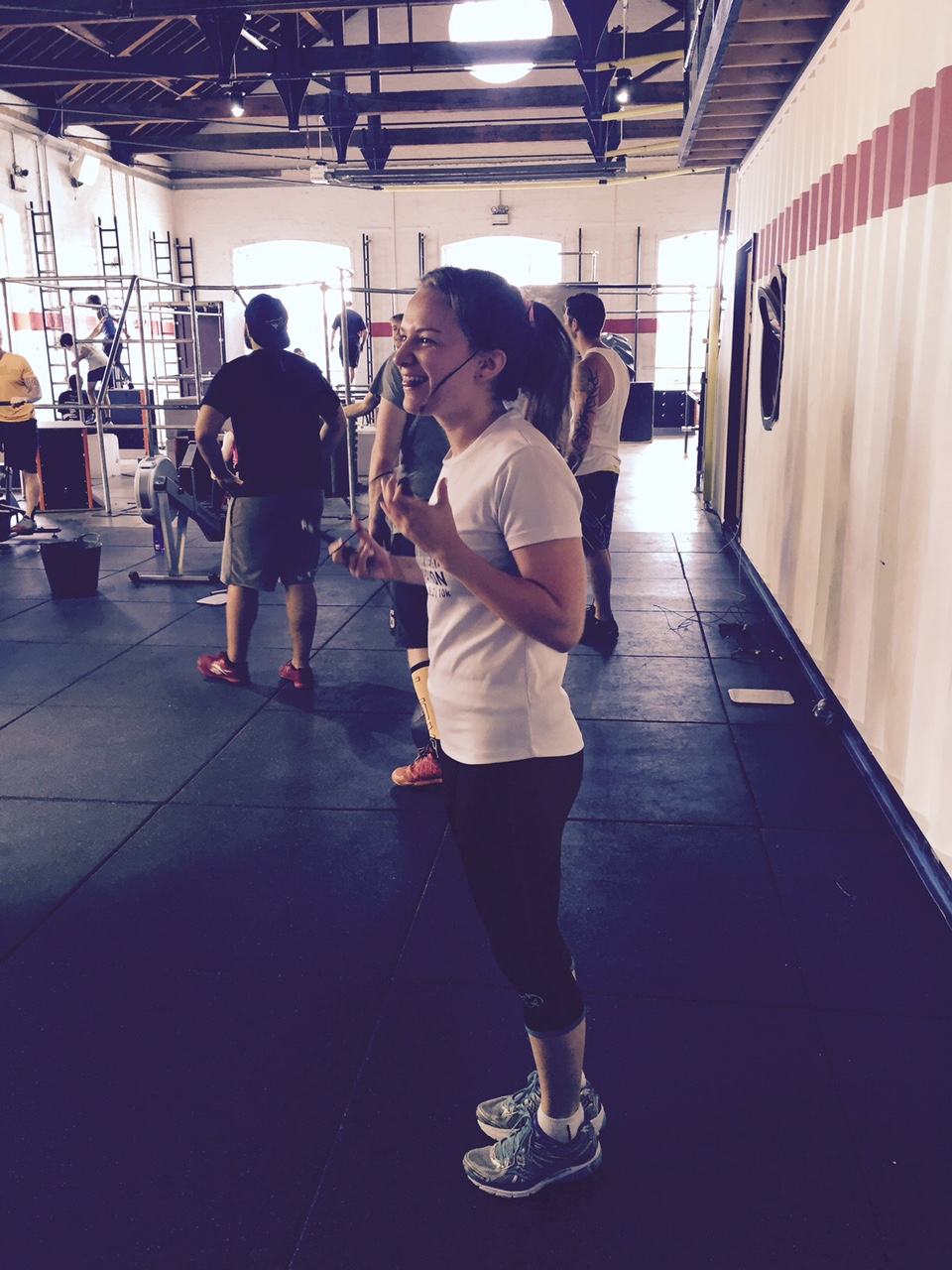 Olivia learns that the hardest part of double unders is ACTUALLY untangling yourself from the rope...