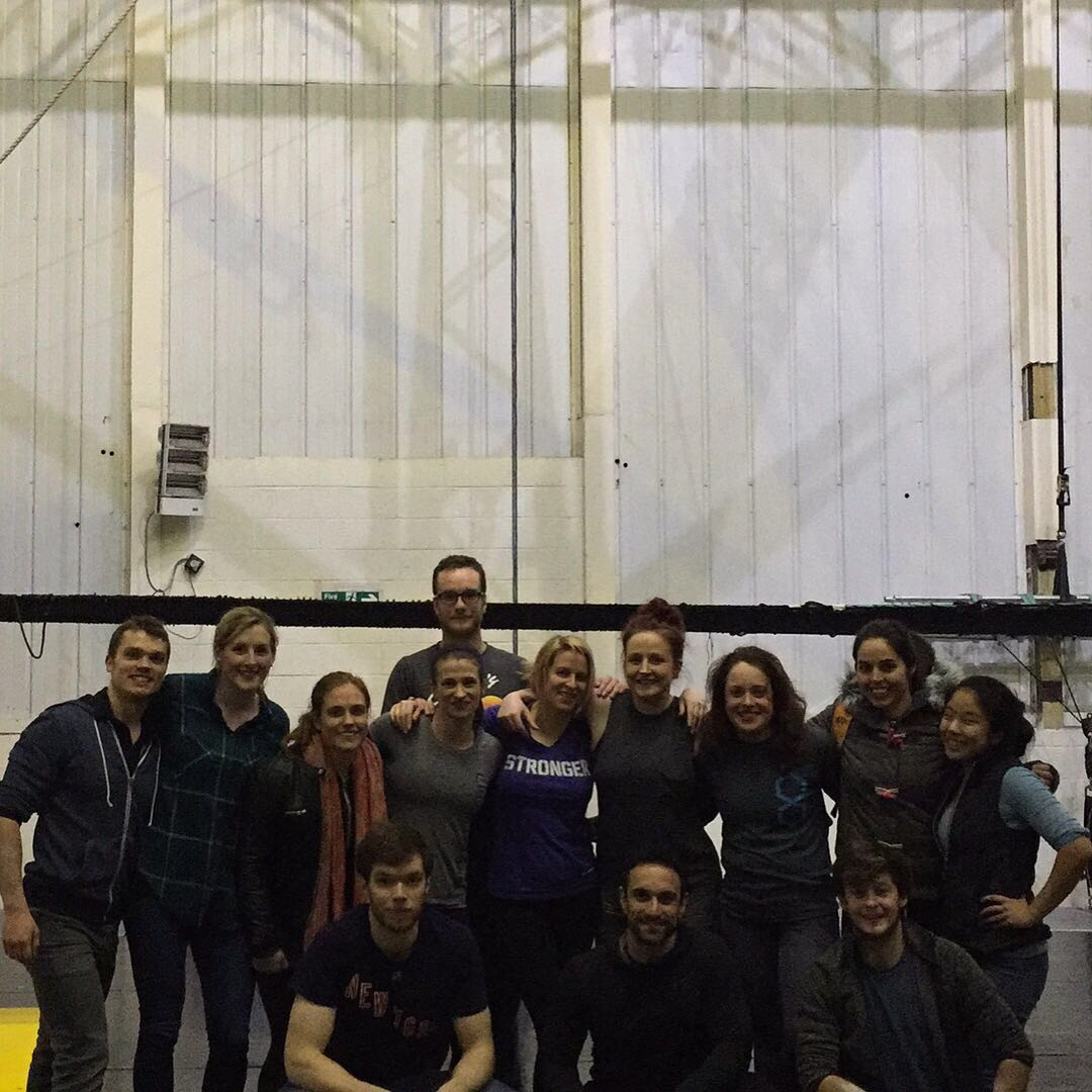 The gang after our Trapeze session with Gorilla Circus