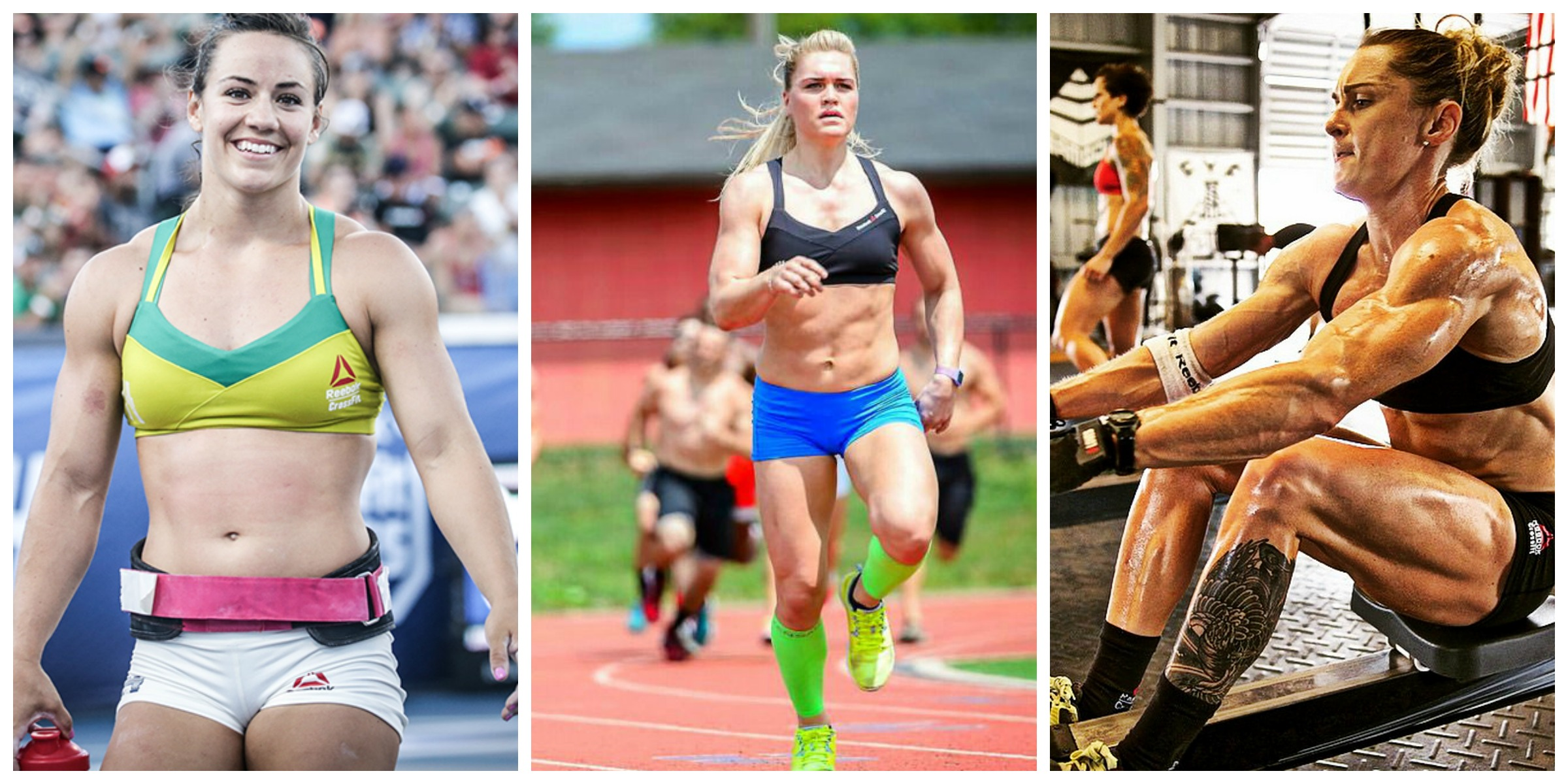 From left to right: Camille Leblanc-Bazinet, Fittest Woman on Earth, 2014; Katrin Davidsdottir, Fittest Woman on Earth, 2015; Samantha Briggs, Fittest Woman on Earth, 2013