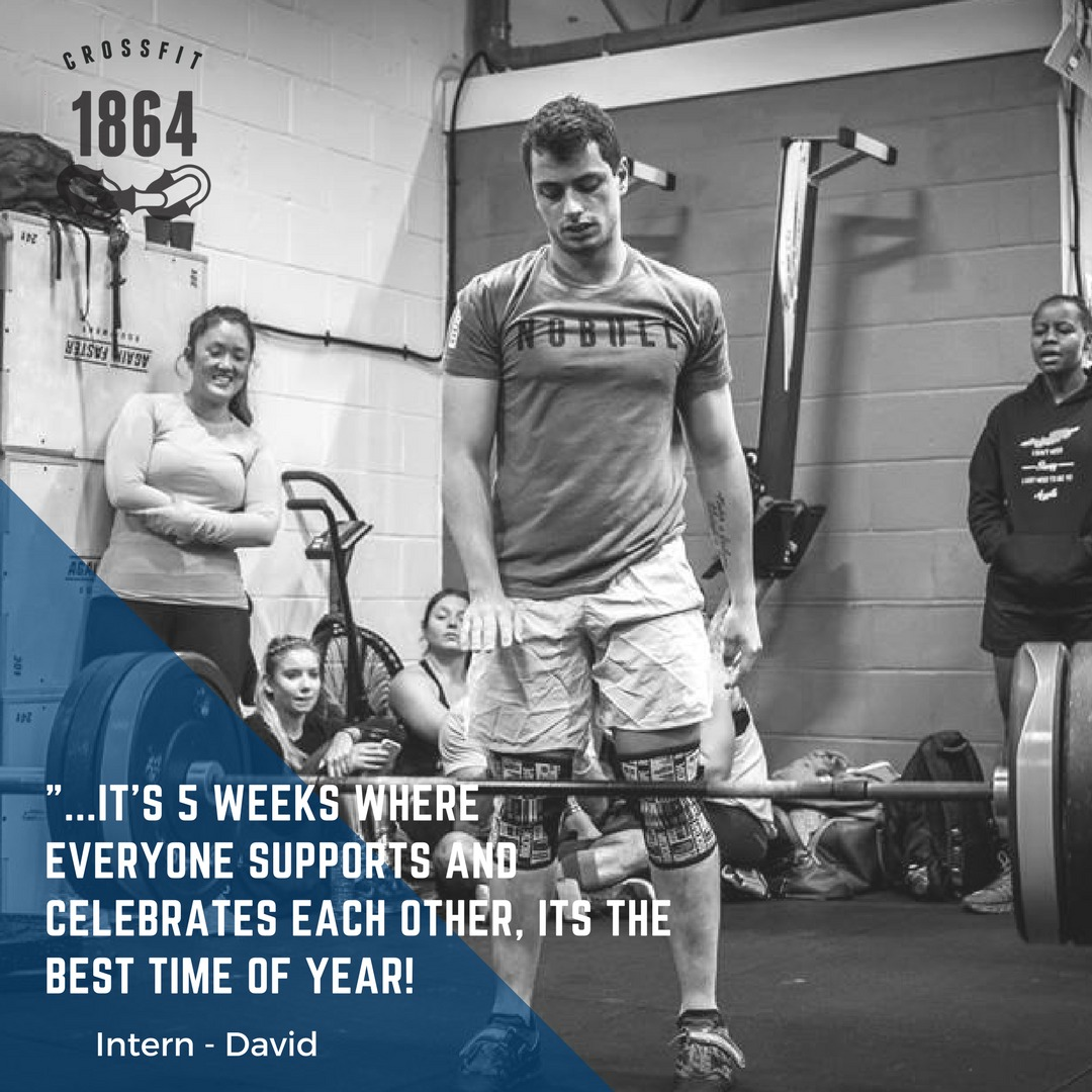 David can't wait to show off his barbell levitation skills in this year's Open!
