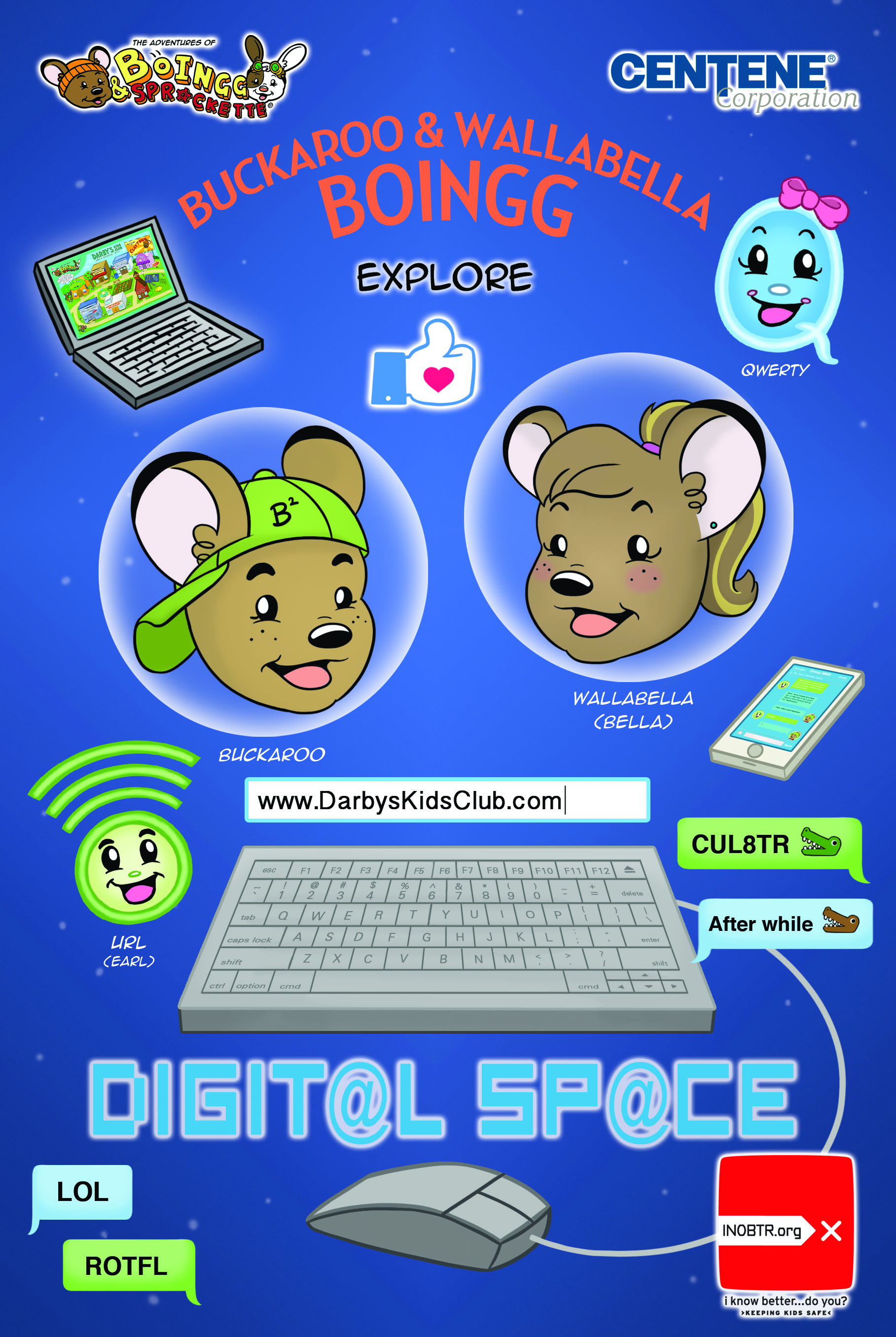 The Adventures of BoIngg & Sprockette: BUCKAROO & WALLABELLA BOINGG EXPLORE DIGIT@L SP@CE