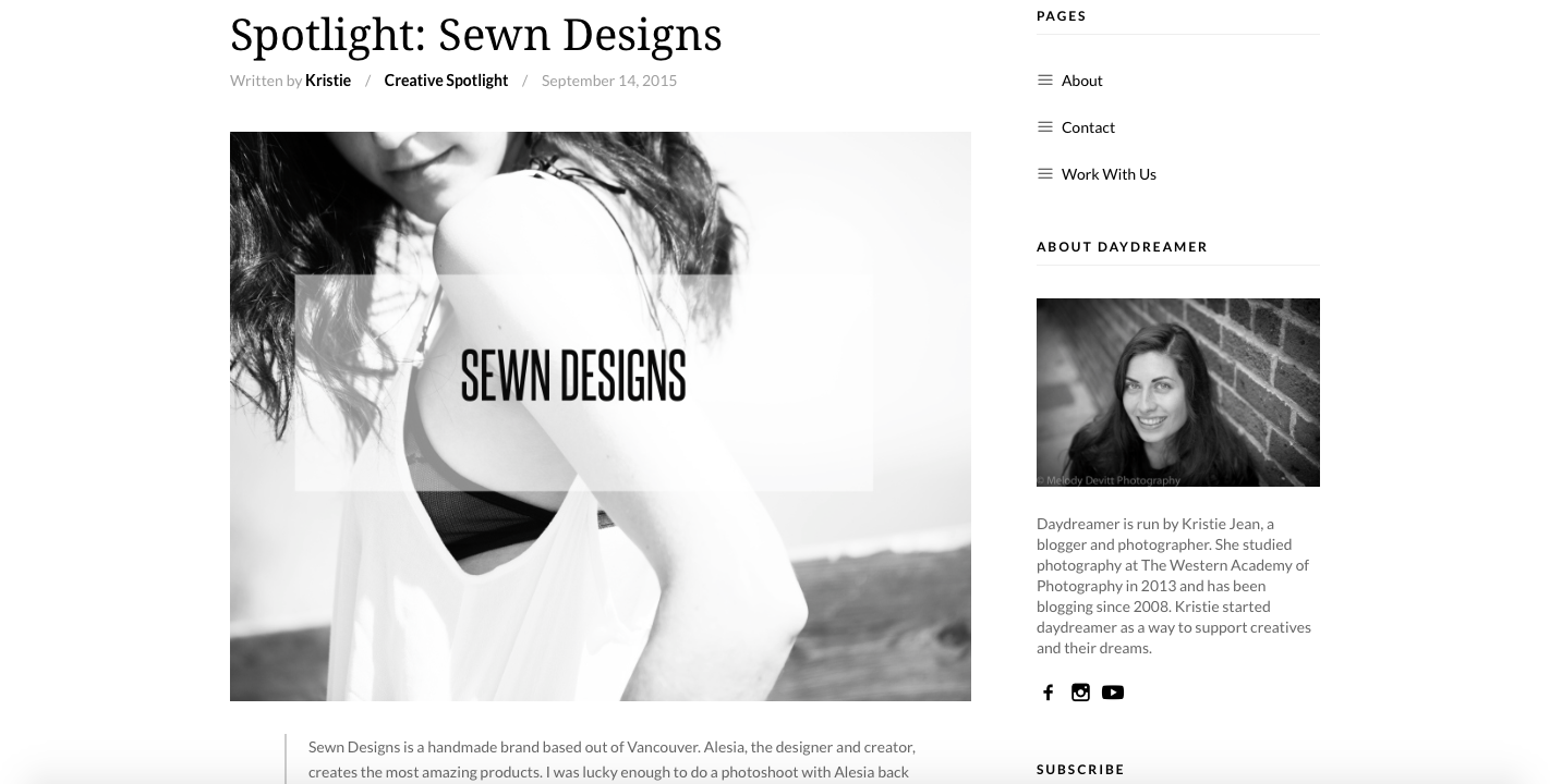 Kristie from KristieJeanPhotography started up a blog and did an AWESOME interview with Sewn Designs!! Click  here  to check it out!
