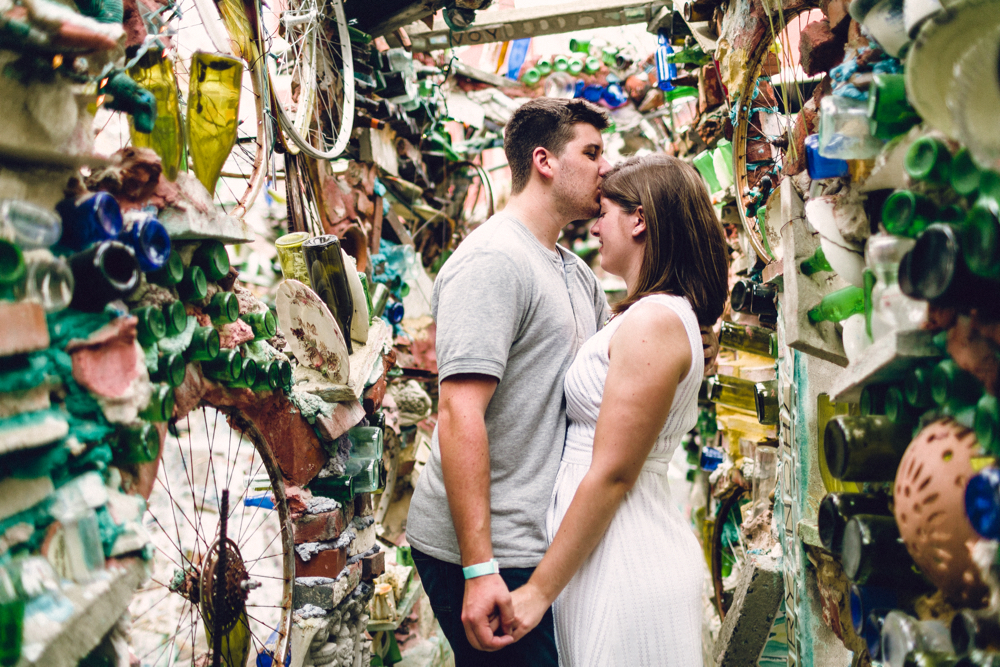 philly magic gardens | philadelphia wedding photographer