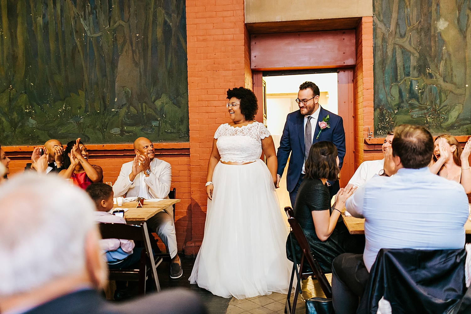 Interracial wedding couple introduction at Fleisher Art Memorial by Danfredo Photos + Films