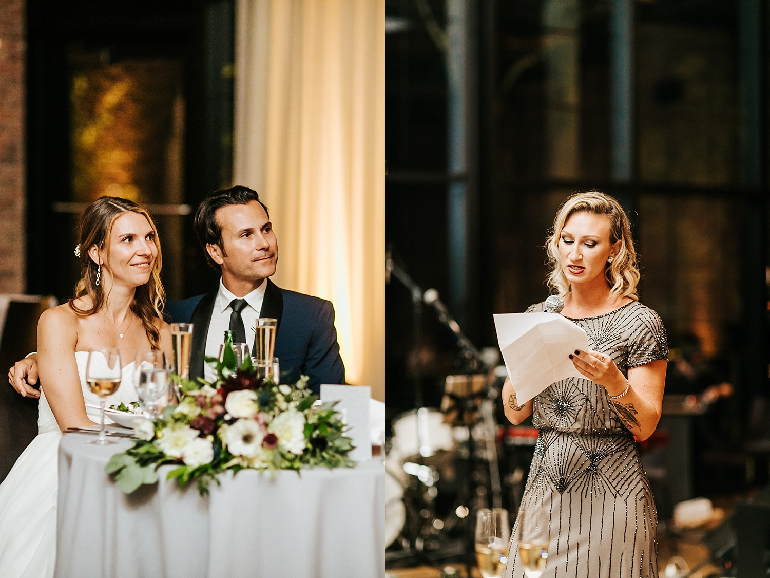 Wedding speech by maid of honor at the roundhouse