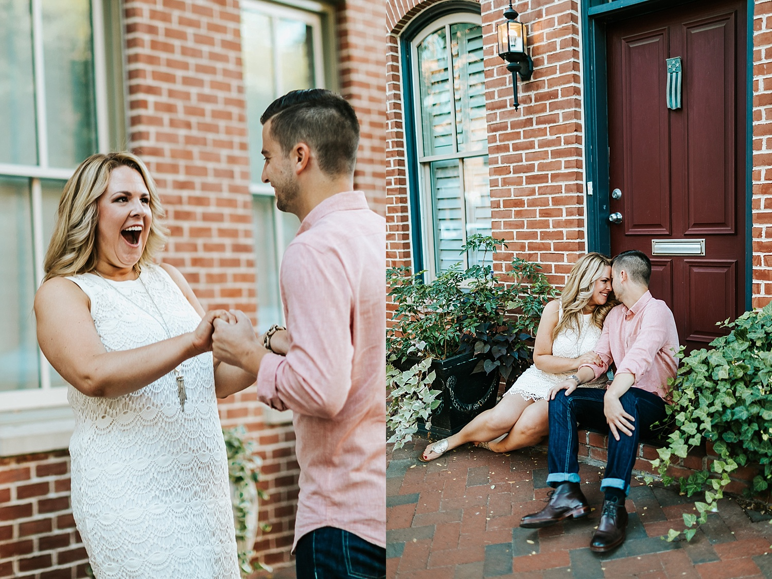 Fall engagement session at fells point